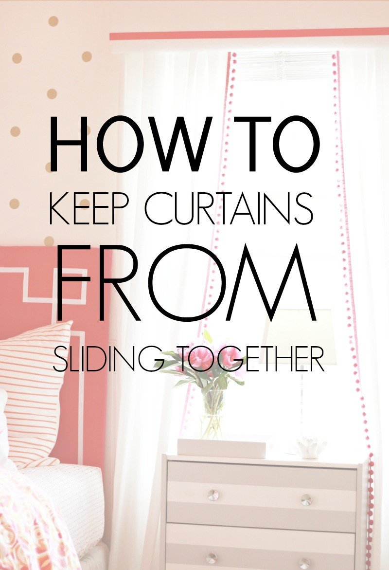 keep curtains from sliding