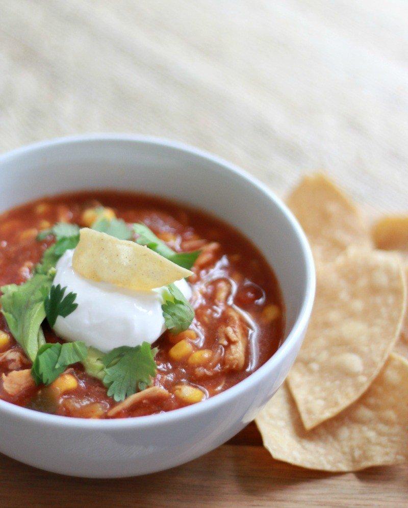chicken tortilla soup slow-cooker