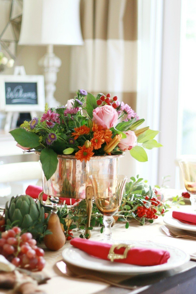 bold and colorful table from A Thoughtful Place