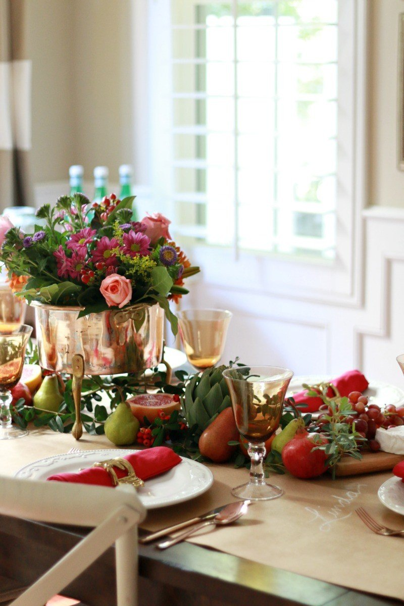 Thanksgiving Table - Bright & Bold - A Thoughtful Place