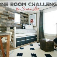 One Room Challenge 2015 – Source List