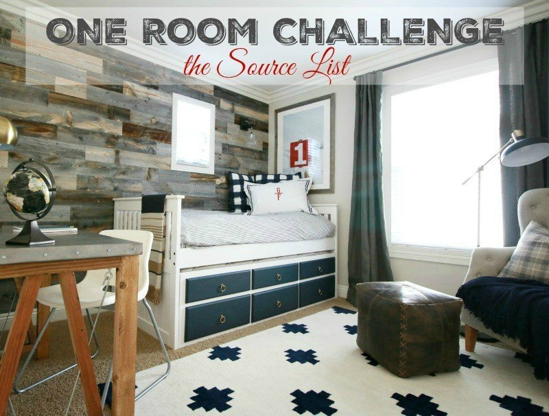one room challenge source list