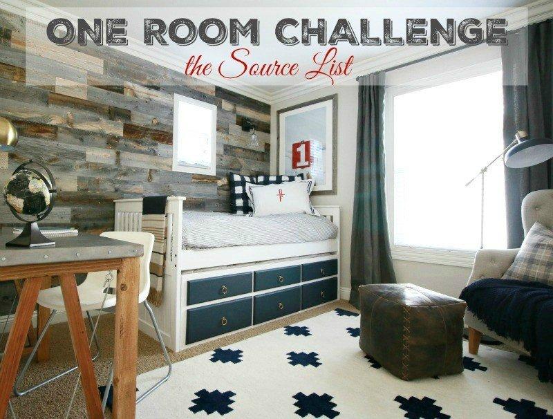 one room challenge source list