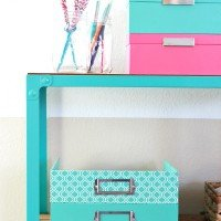 Organized Craft Cart