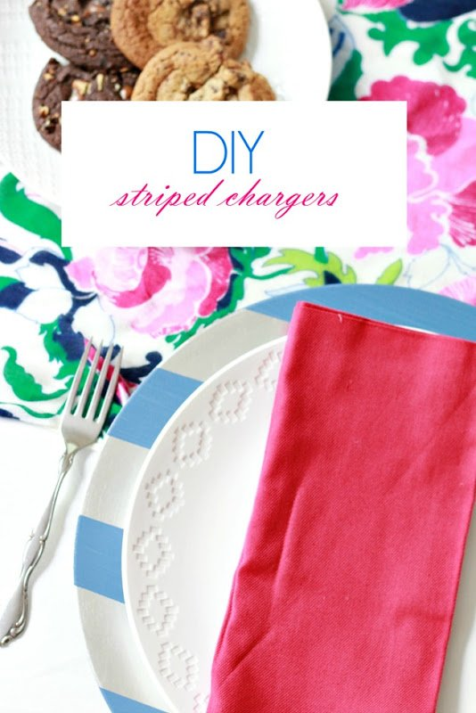 DIY striped chargers