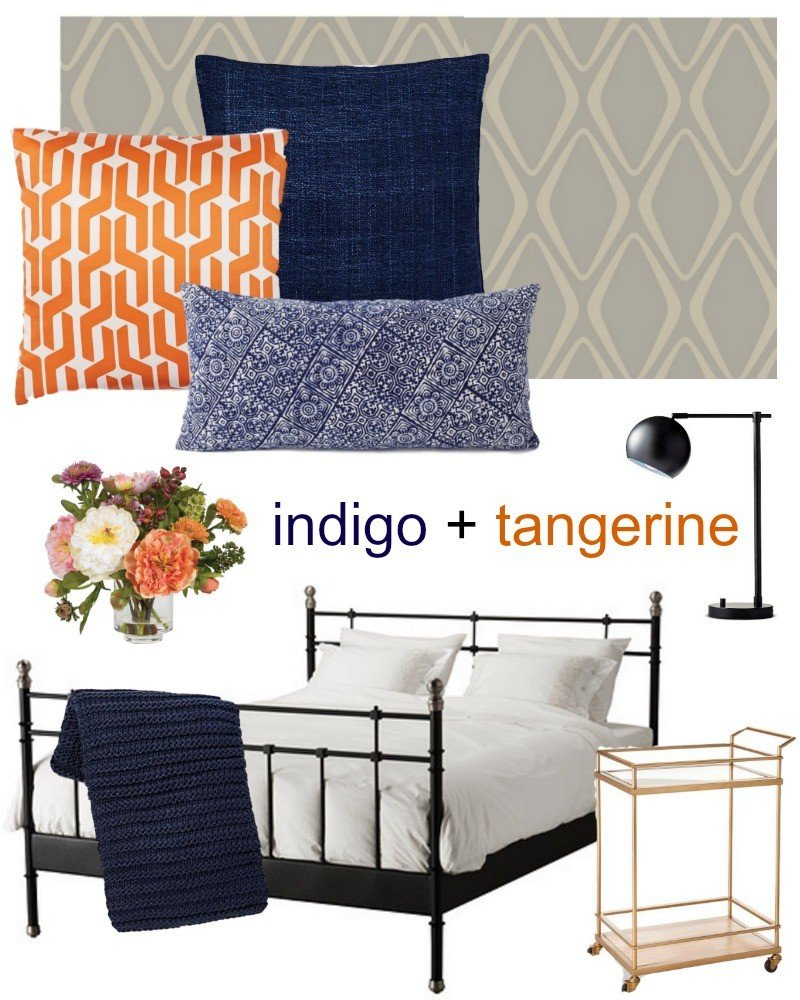 indigo and tangerine