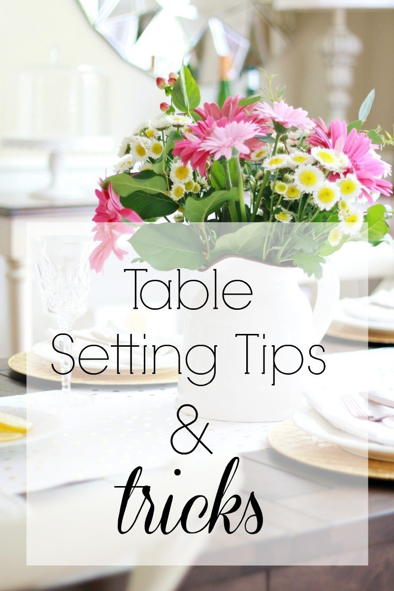table setting tips & trick