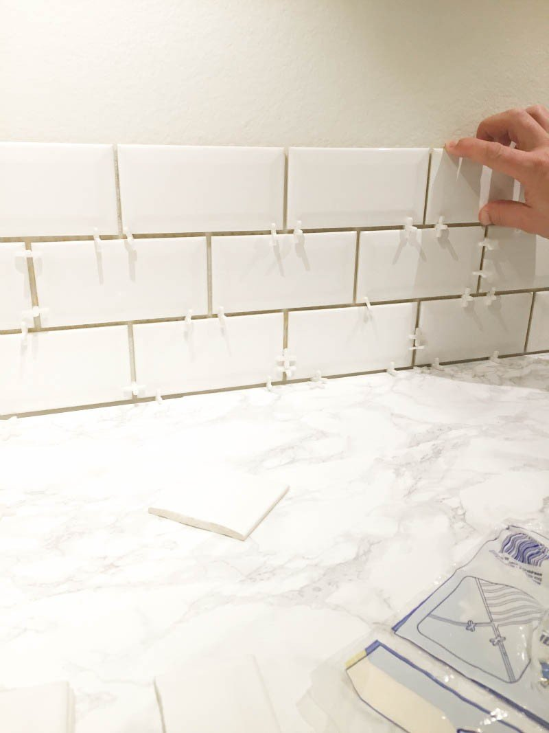 tiling with spacers