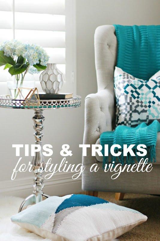 tips & tricks for styling a vingette