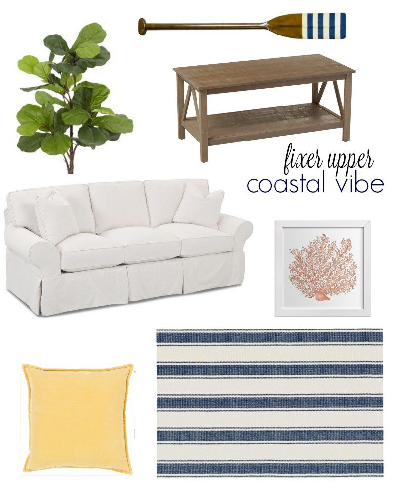 fixer upper inspired coastal vibe