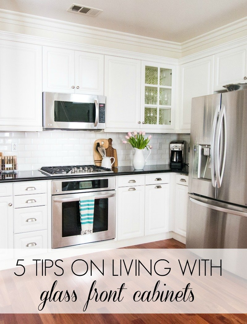 5 tips on living with glass cabinets a thoughtful place rh athoughtfulplaceblog com glass door cabinets for kitchen glass wall cabinets for kitchen