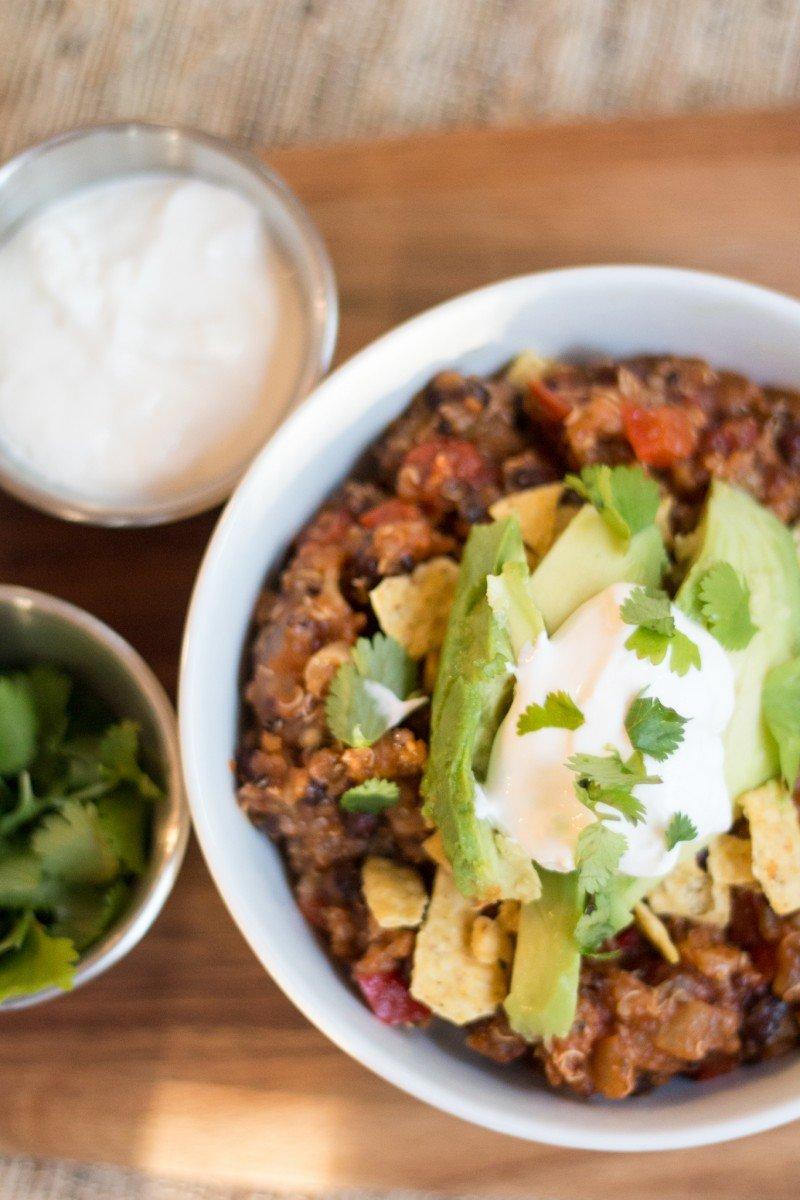 veggie quinoa chili2