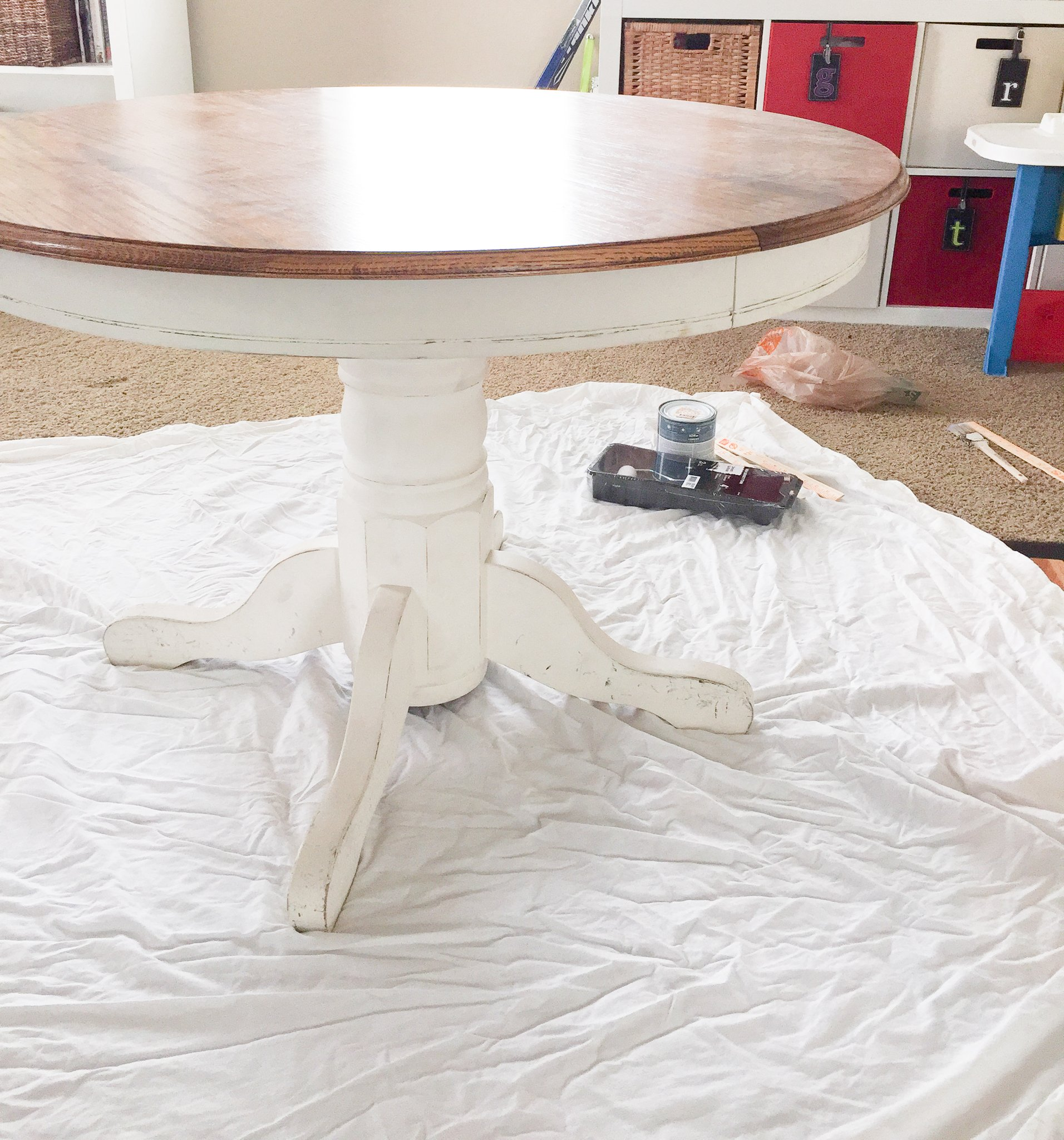 How to paint a table a thoughtful place painting a table 4 geotapseo Choice Image