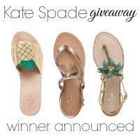 Kate Spade Giveaway | Winner