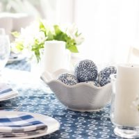 Gathering | Blue & White