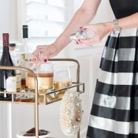 Holiday Bar Cart Styling | Two Ways