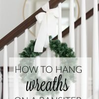 How to Hang Banister Wreaths & Video
