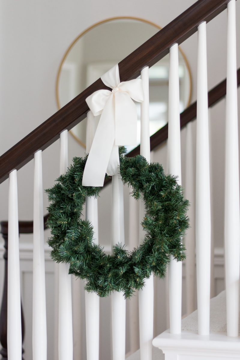 How to Hang Banister Wreaths & Video - A Thoughtful Place