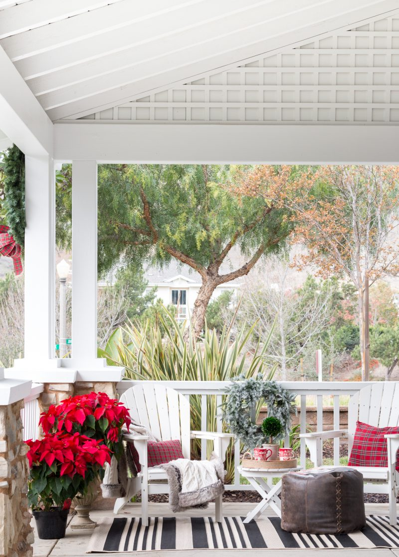 a christmas front porch a thoughtful place. Black Bedroom Furniture Sets. Home Design Ideas