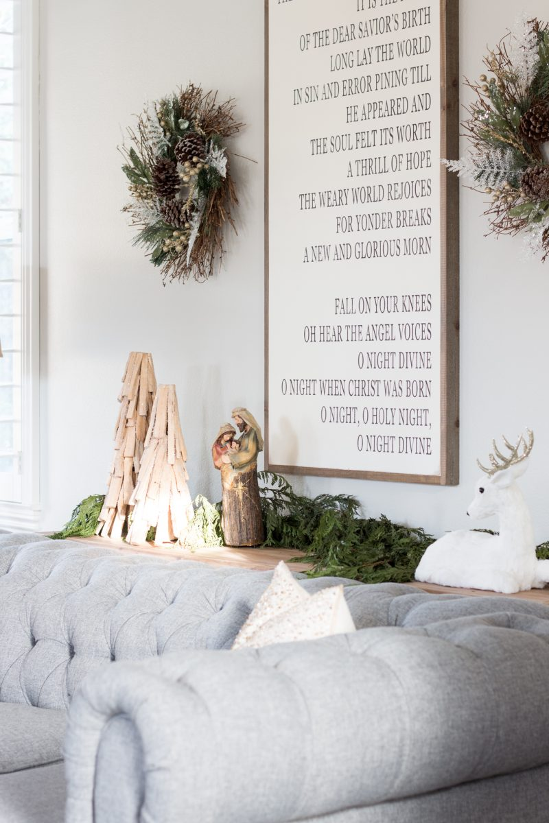 One Of My Very Favorite Sights Is Seeing The Sun Shine In Through Windows Which Light Up Blessed Family And Our O Holy Night Sign