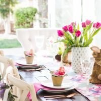 Create a Colorful Easter Table