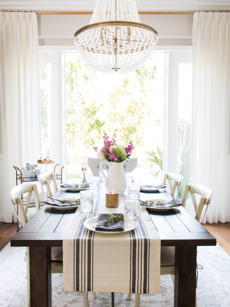 Styled for Spring Dining Room