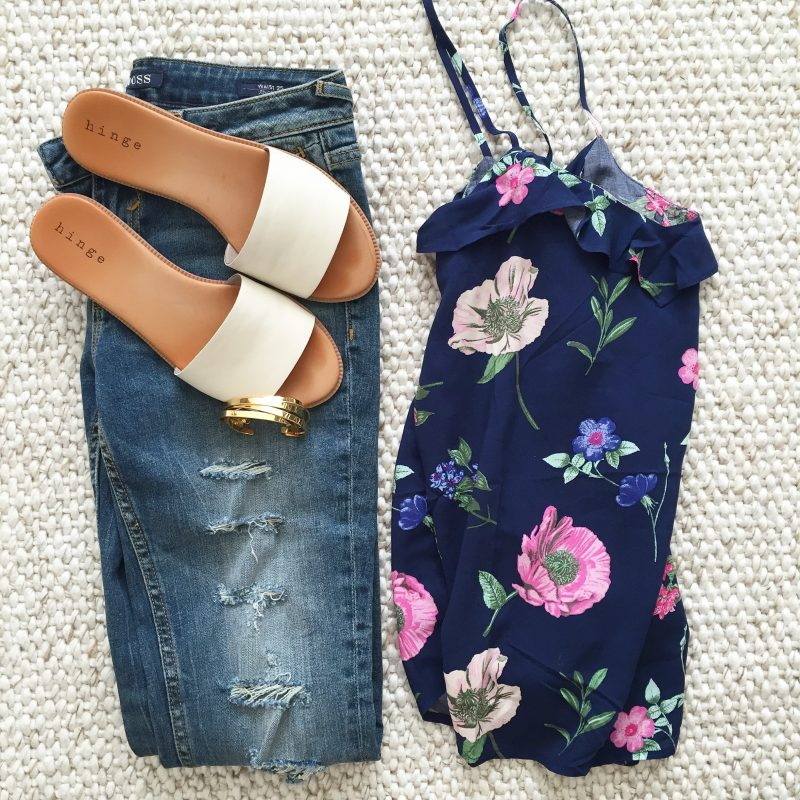 saturday shopping floral top