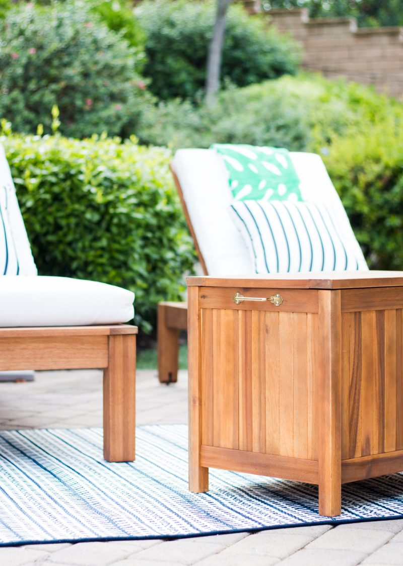 our preppy backyard lounge area a thoughtful place