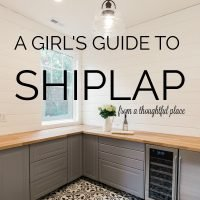 A Girl's Guide to Shiplap