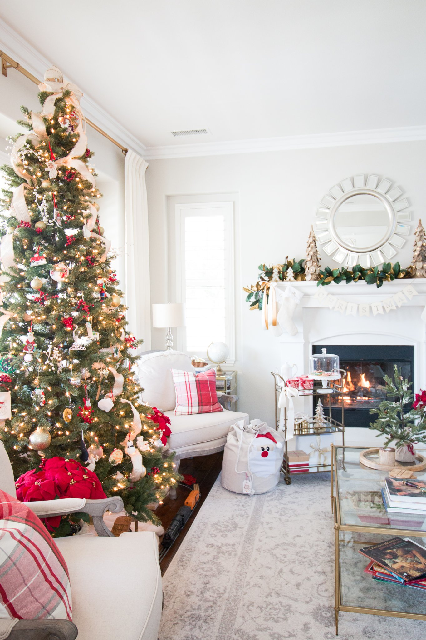 Christmas home tour living room a thoughtful place for Christmas living room pinterest