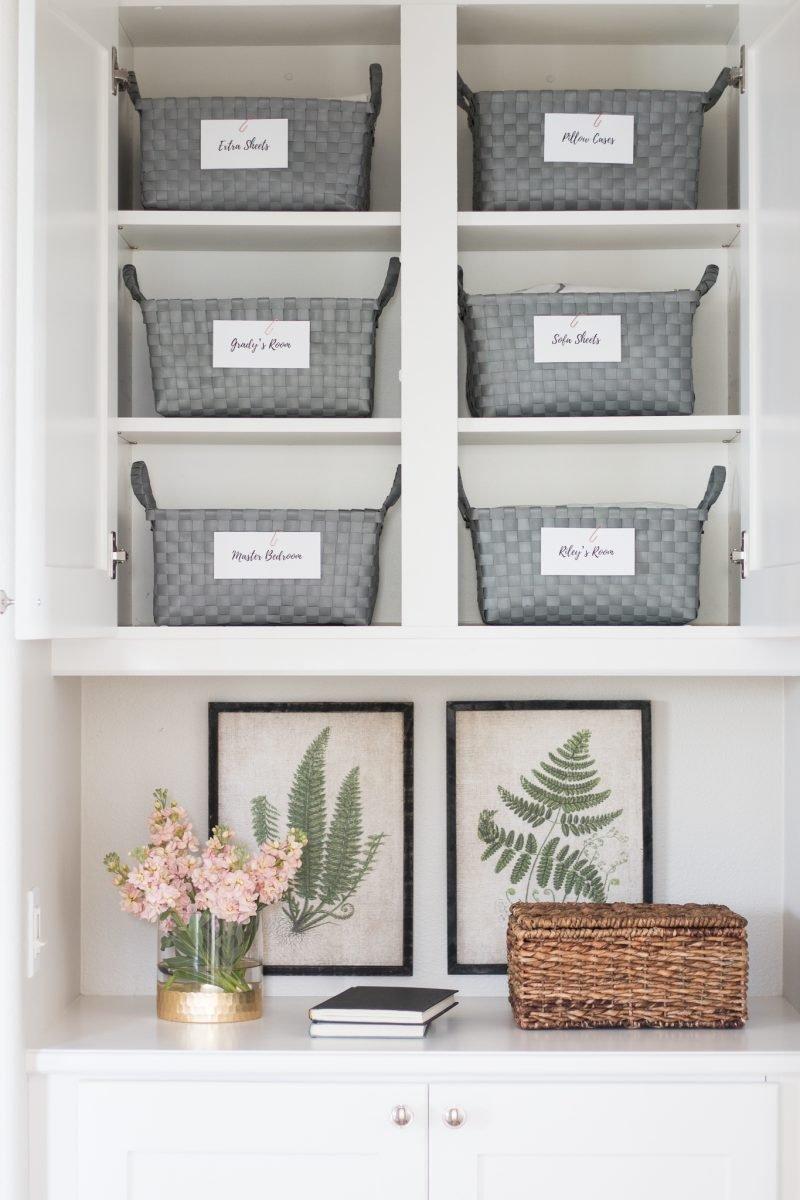 Organized Linen Closet A Thoughtful Place