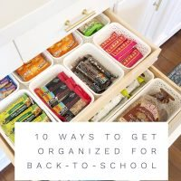 10 Ways to Get Organized for Back-to-School