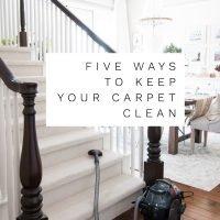 5 Ways to Keep Carpet Looking Clean