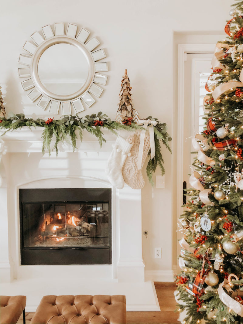 A Realistic Faux Garland Mantel A Thoughtful Place