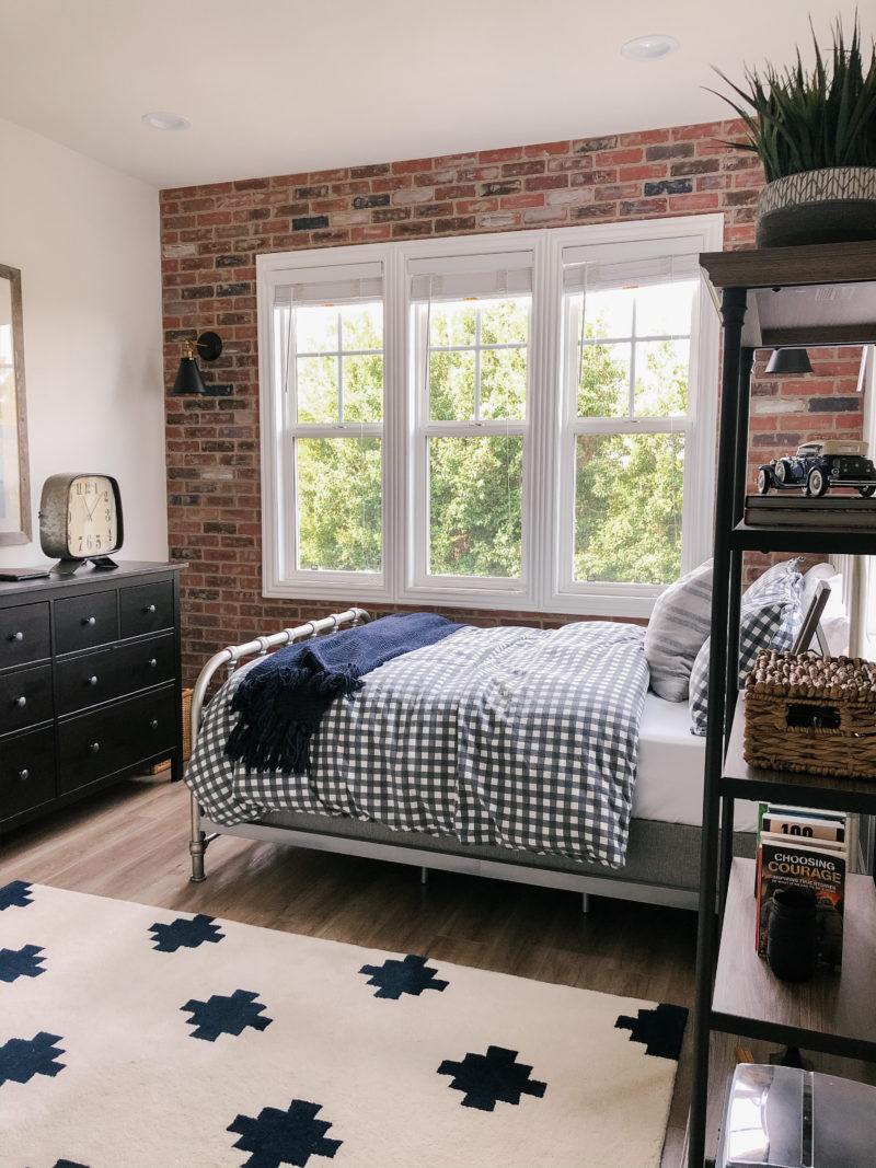 Brick Wall Bedroom Reveal A Thoughtful Place
