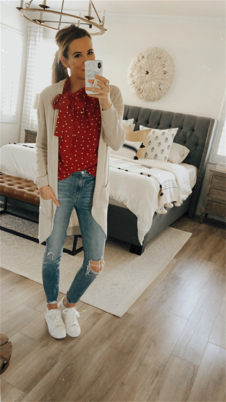 red heart top