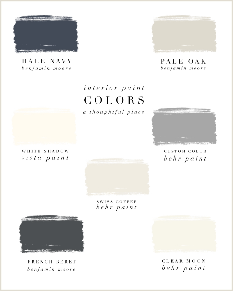 Our Interior Paint Colors   A Thoughtful Place