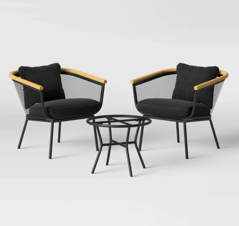 black furniture set