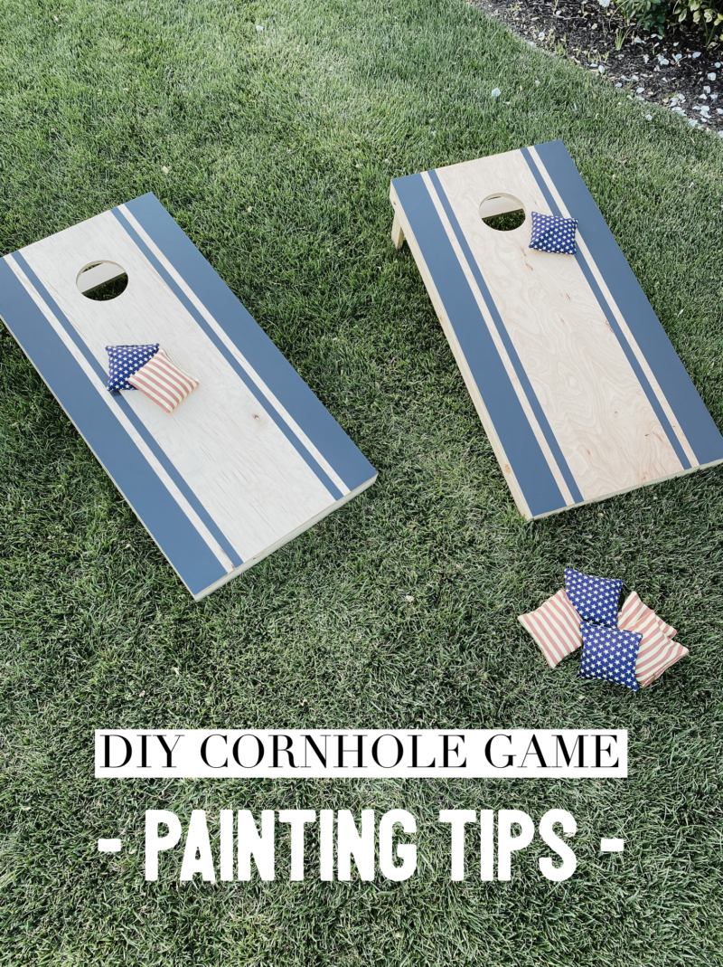 painting tips for diy cornhole