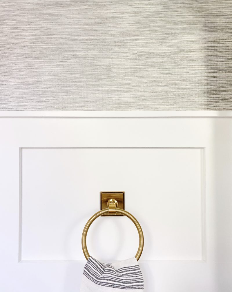 gold ring towel bar