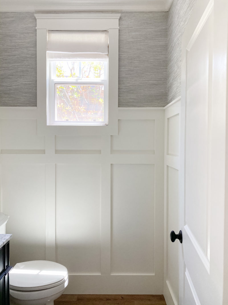 powder room millwork