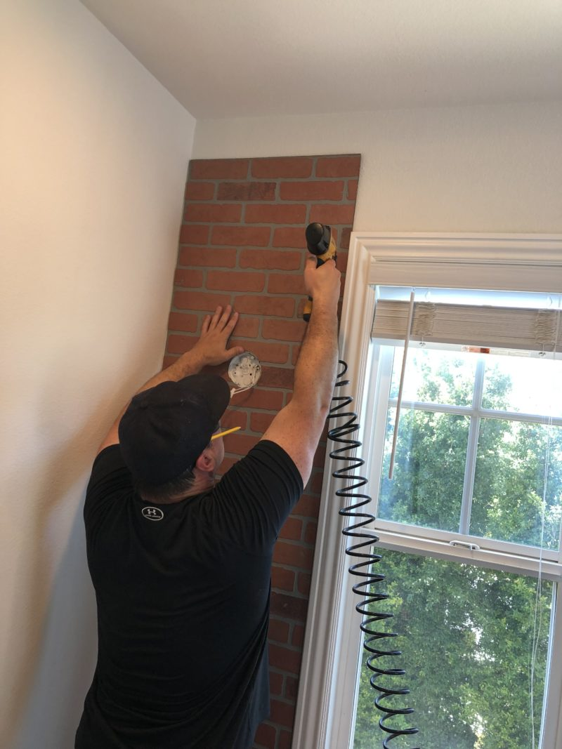 hanging faux brick wall panels