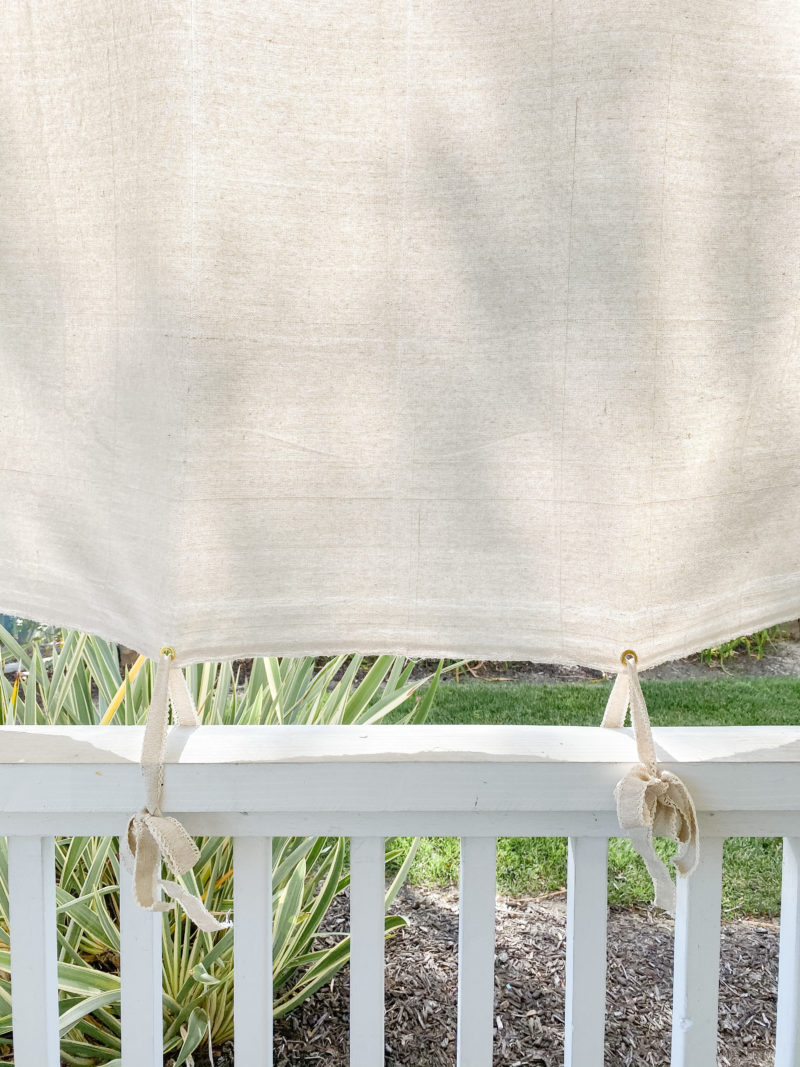 shade cover with bows