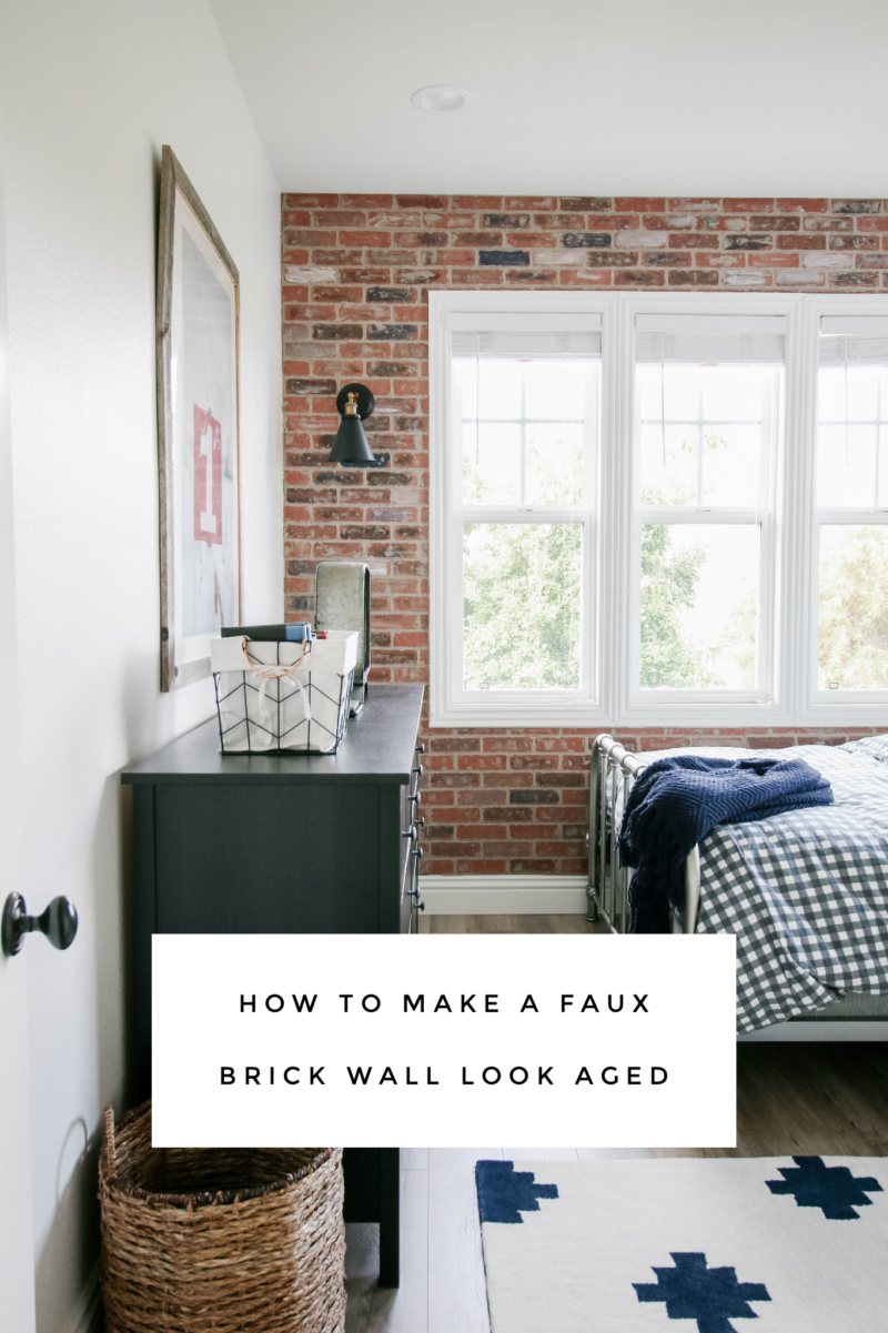 how to make a brick wall look aged