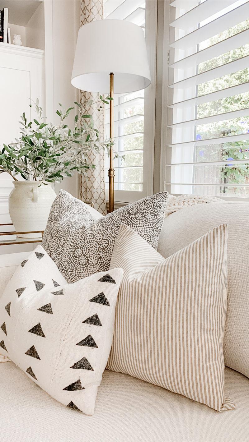 striped amazon pillow