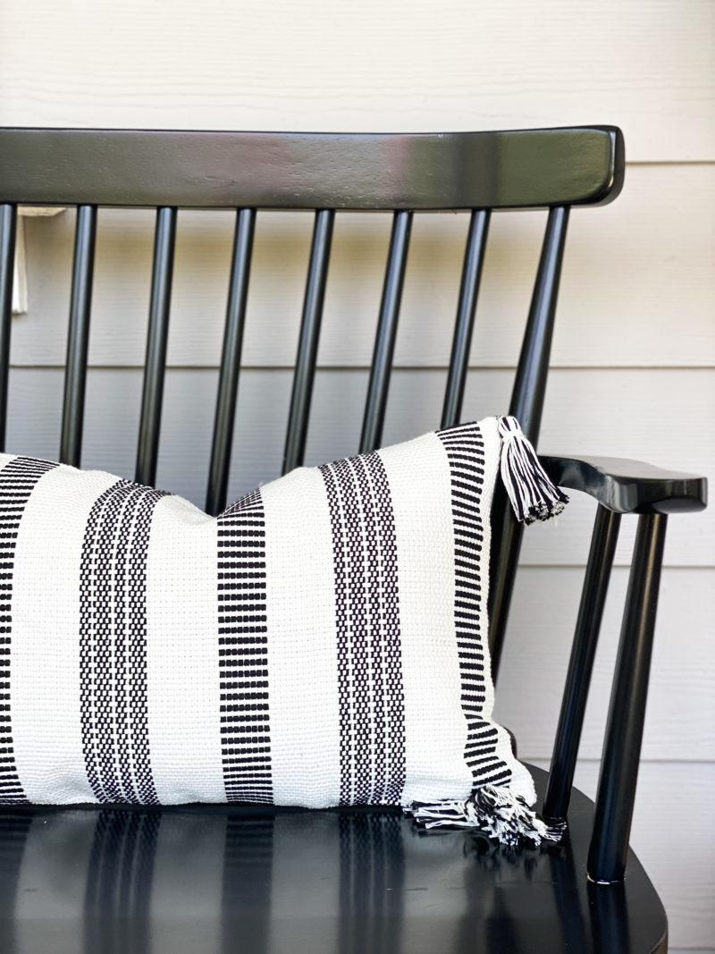 amazon black and white pillow