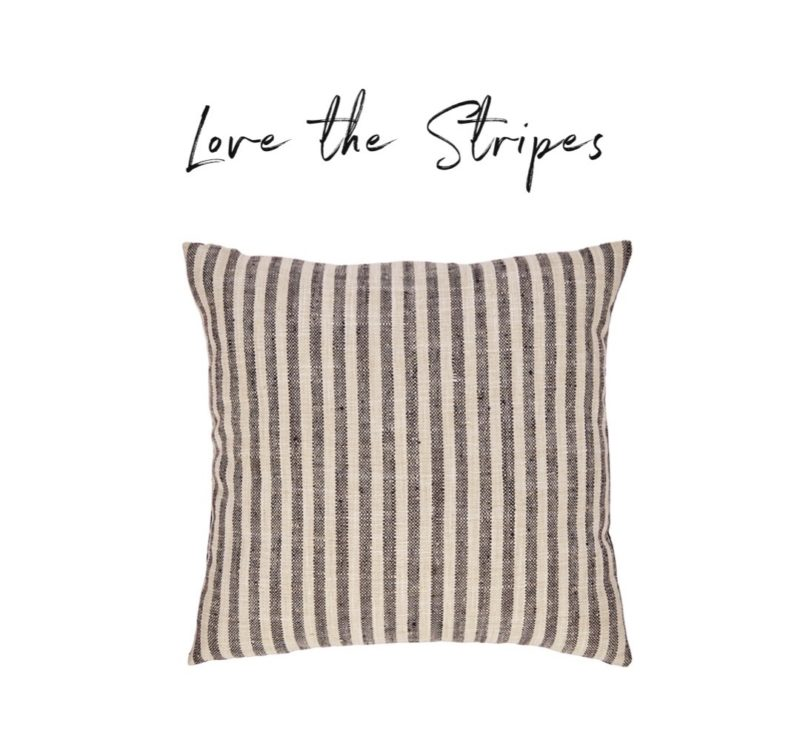 affordable striped pillow