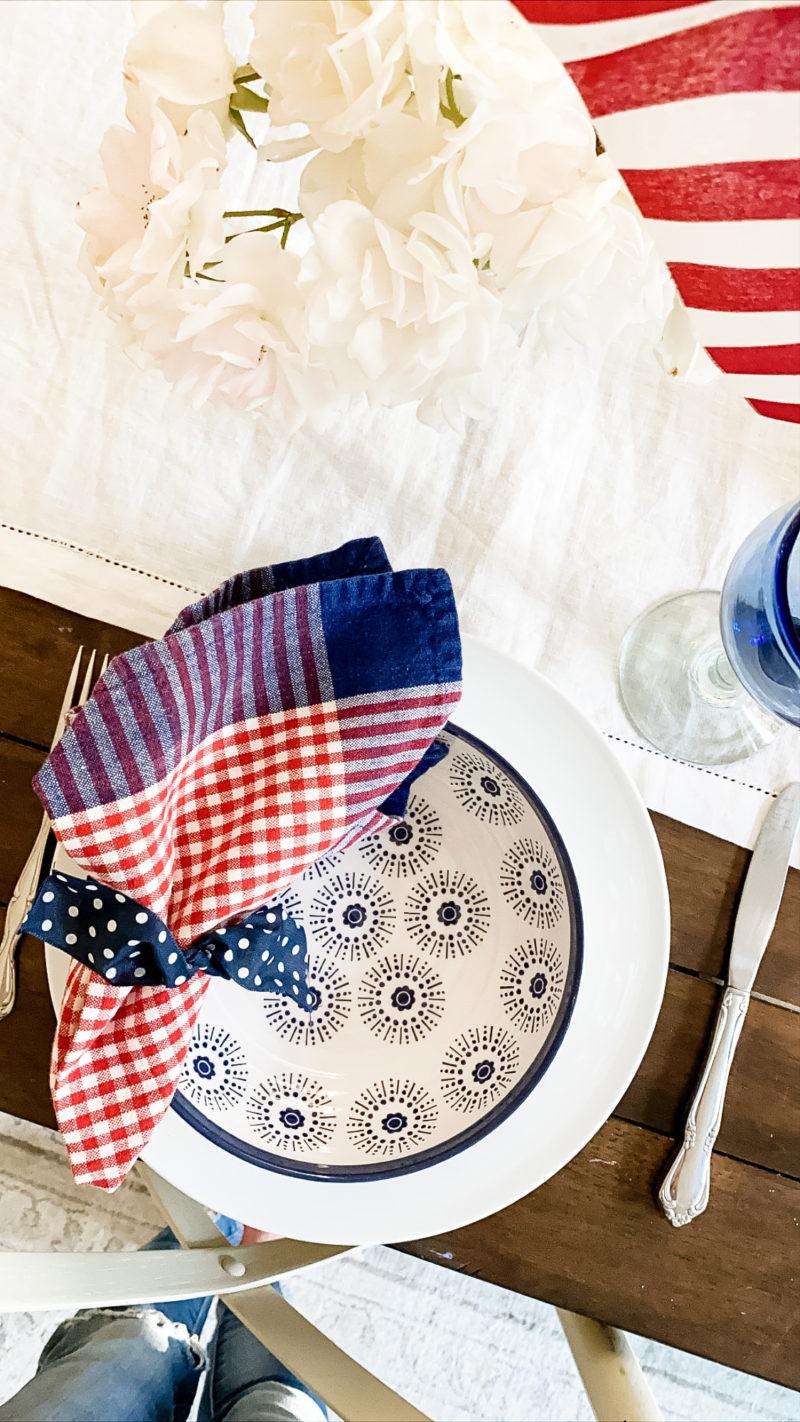 fourth of july napkins