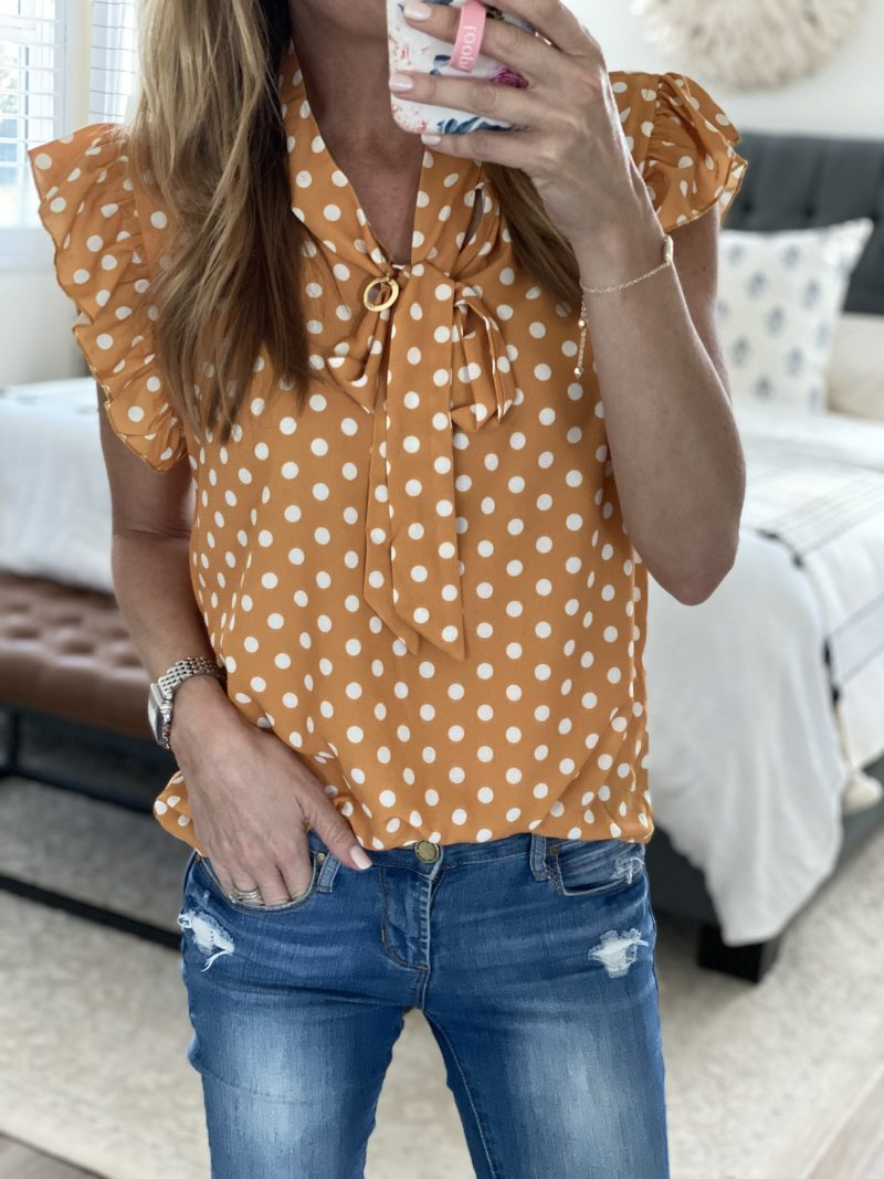 polka dots saturday shopping