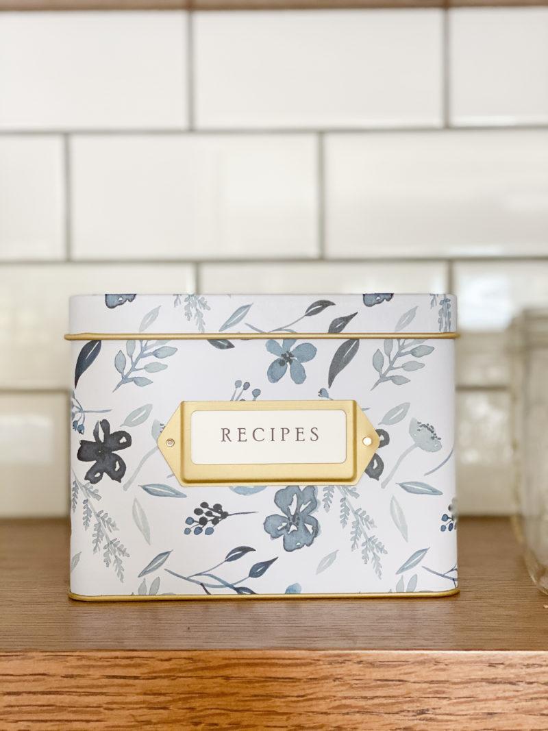 sentimental recipe box